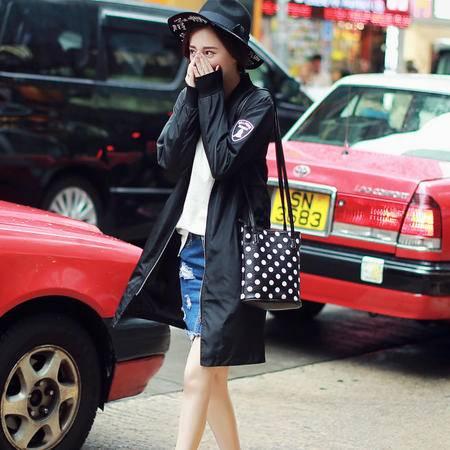mssefn女装类目 F50 新款中长款风衣男女 袖标薄款外套 情侣风衣 P65