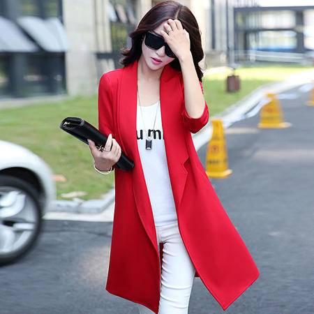 mssefn2015新款秋季韩版女装 中长款女士风衣YS1090
