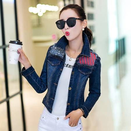 mssefn2015新款秋季韩版女装时尚潮流秋款新品秋装牛仔外套YS7719