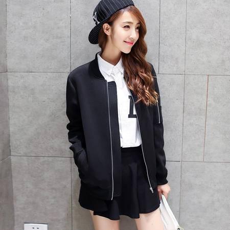 mssefnJ023秋装新款韩版修身情侣夹克 外套男女夹克外套太空棉潮