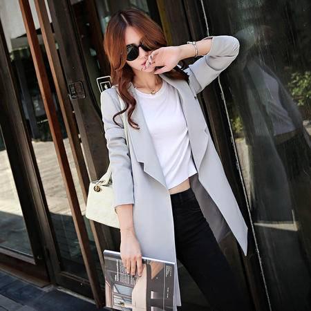 mssefn风衣女外套秋季韩国2015秋装新款女装韩版中长款修身潮Y648