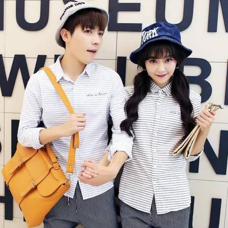 mssefn情侣装秋装 2015新款韩版情侣长袖衬衫电商B371-064女装类目