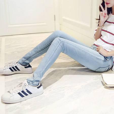 mssefn实拍 浅色韩版显瘦铅笔裤小脚牛仔裤女 仅支持代发 C213 9203