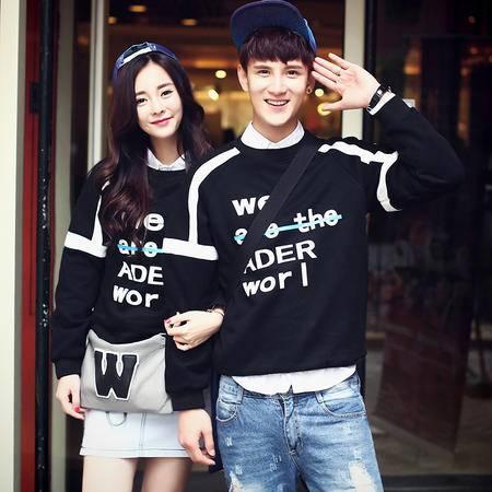 mssefn2015秋装新款韩版情侣装圆领卫衣 情侣卫衣外套 A63