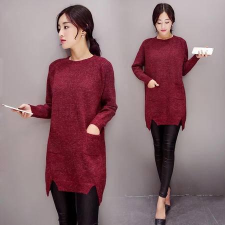 mssefn2015秋款小香风毛衣修身韩版新款毛针织衫打底衫A189