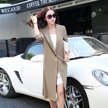 mssefn2015欧美新款秋季长款风衣时尚休闲外套A165
