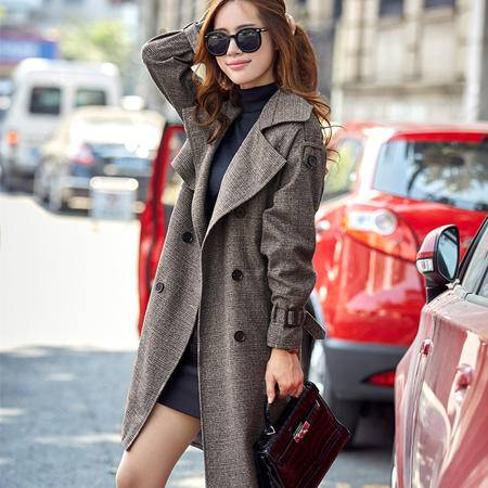 mssefn2015欧美新款秋季中长款风衣时尚休闲外套A168