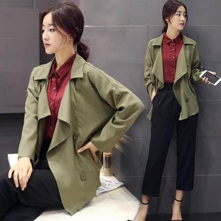 mssefn2015秋季小香风短款外套韩版显瘦新款风衣A121