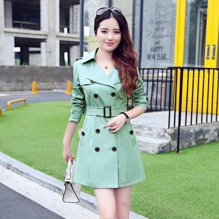 mssefn2015秋季新款韩版女装女士中长款时尚修身秋装风衣外套YS516