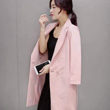 mssefn2015韩版时尚新款秋季中长款外套修身女式风衣H279