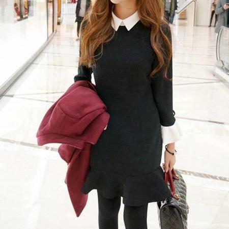 mssefn(大货)2015秋季新款女士韩版连衣裙 8309A-L923