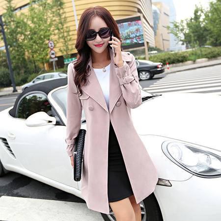 mssefn2015欧美新款秋季中长款风衣时尚休闲外套A167