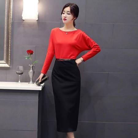 mssefn2015时尚新款秋季韩版小香风长袖修身连衣裙Y701