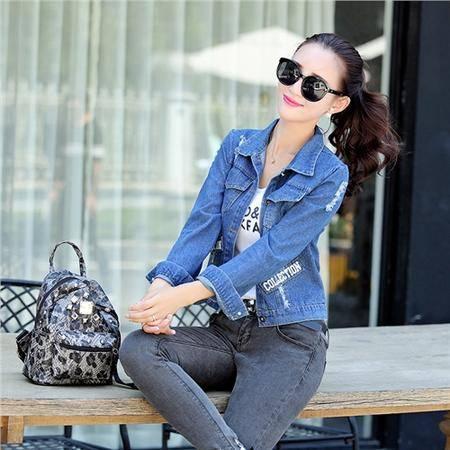 mssefn2015秋季女装新款韩版时尚休闲短款牛仔外套82110