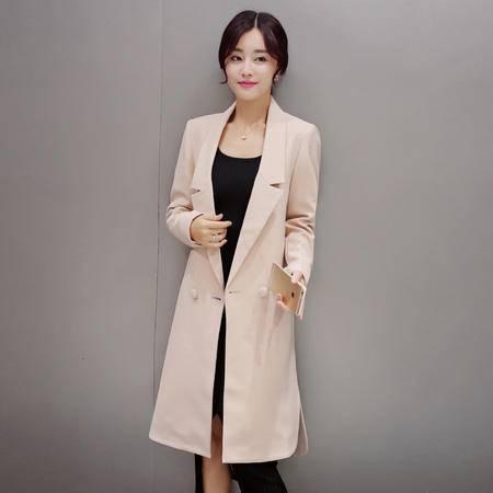 mssefn2015韩版时尚新款秋季中长款外套修身女式风衣H275