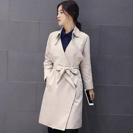 mssefn2015秋季小香风外套韩版中长款显瘦新款风衣A116