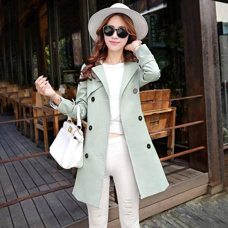 mssefn风衣女外套秋季韩国2015秋装新款女装韩版中长款修身潮Y656