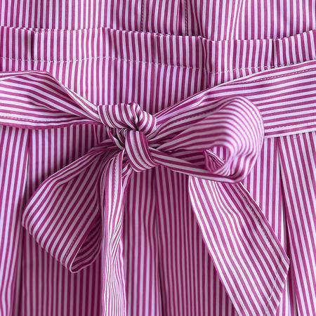 mssefn2015秋季女装新款衬衣领时尚修身条纹连衣裙83007