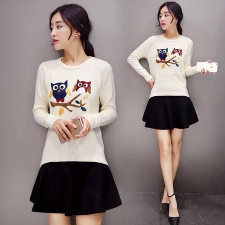 mssefn2015秋款小香风毛衣修身韩版新款毛针织衫打底衫A186
