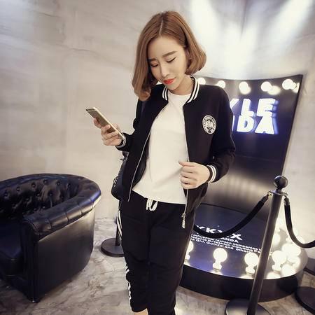 mssefn2015秋装新款韩版显瘦拉链长袖立领休闲短外套 女潮1326F46
