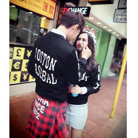 mssefn2015秋装新款韩版情侣装套头圆领卫衣 情侣卫衣 A66