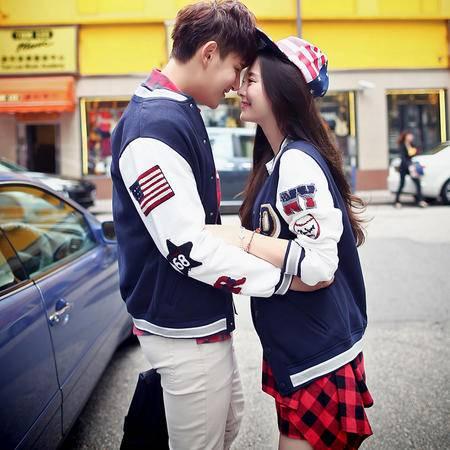 mssefn2015秋装新款韩版情侣装 情侣卫衣棒球服外套 A65