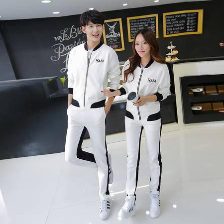 Mssefn 2015时尚秋装新款开衫运动休闲情侣套装 一套