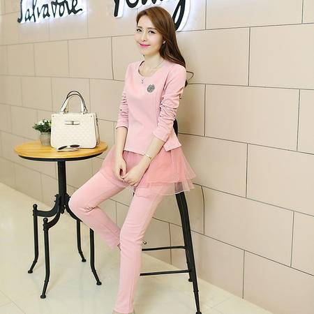 Mssefn 2015秋季新款韩版女装 时尚休闲运动套装秋装 两件套