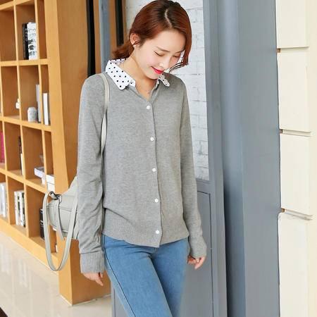 mssefn2015秋季新款韩版修身针织开衫外套短款毛针织衫Y609