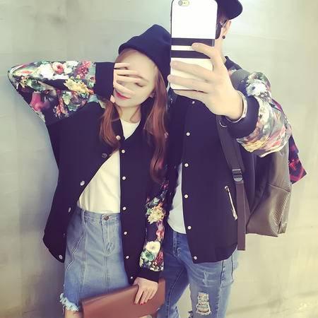 Mssefn 2015秋装新款情侣短外套韩版 太空棉棒球服休闲卫衣外套