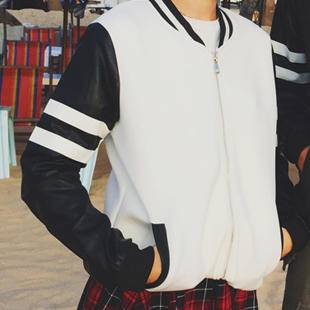 mssefn泰国之行2015秋季太空棉皮袖棒球衫情侣装夹克班服B341-KK11