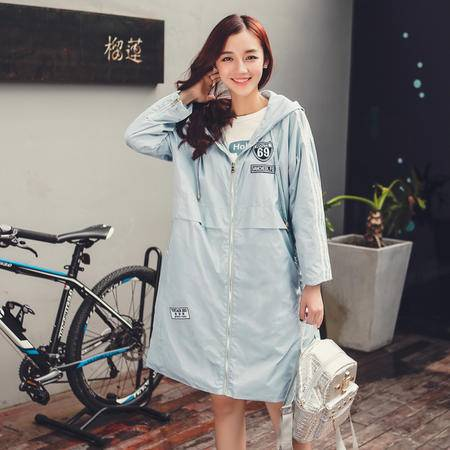 mssefn2015秋装新款韩版女装品质中长款风衣外套7727