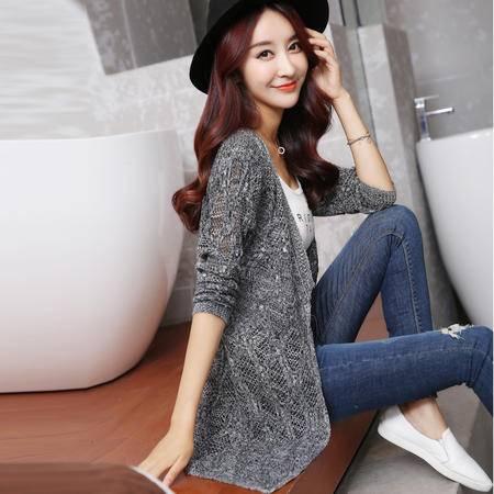 mssefn2015秋装新款韩版女装镂空开衫外套空调衫759