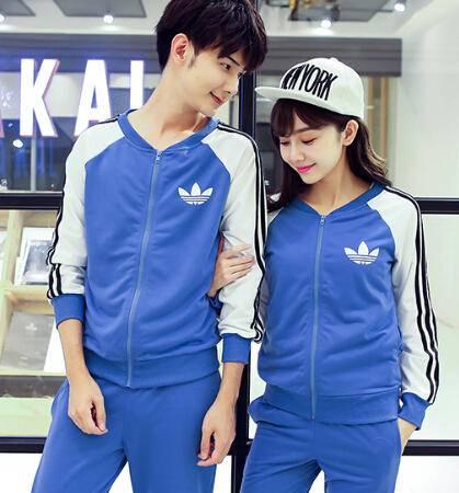 Mssefn 2015女秋季新款运动休闲套装衣服男生情侣装一套