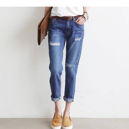 mssefn秋冬季潮时尚小脚牛仔长裤显瘦女 电商基地C213可拿现货 A8132