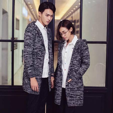 Mssefn 2015情侣装秋装情侣毛衣混色韩版中长款开衫毛衣