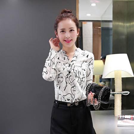 Mssefn 2015秋季新款长袖衬衫修身韩版衬衣女装