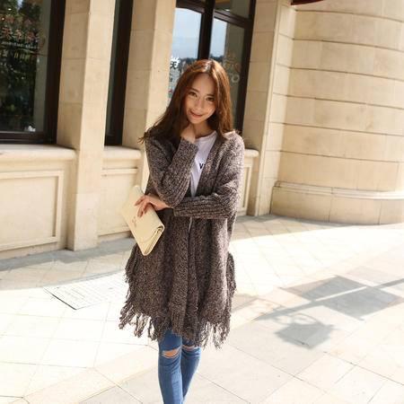 Mssefn 2015女装新款保太和流苏毛衣开衫
