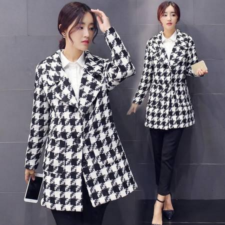 Mssefn 2015韩版淑女潮新款秋季中长款呢大衣保暖毛呢外套