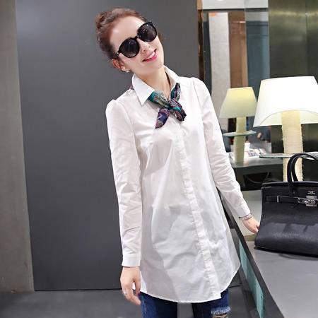 Mssefn 2015女装秋季新款长袖衬衫修身韩版衬衣