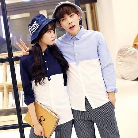 Mssefn 2015情侣装衬衫 2015新款韩版情侣长袖衬衫