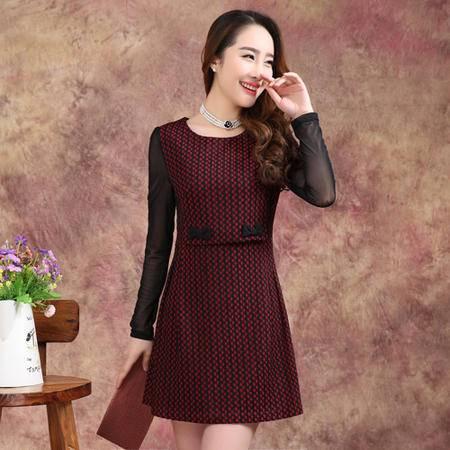Mssefn 2015秋季新款时尚秋装气质连衣裙
