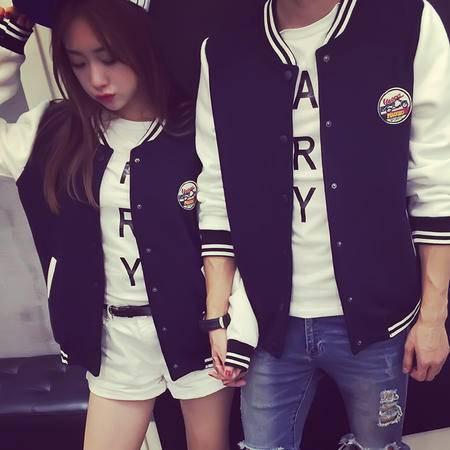 mssefn2015秋装新款情侣卫衣 韩版棒球服开衫外套 Y195女装类目
