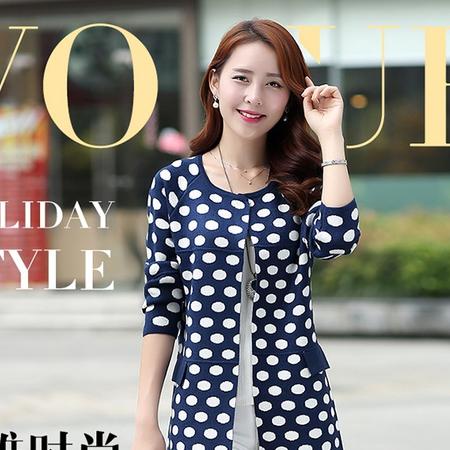 mssefn开衫女2015秋季新款韩版修身针织外套中长款毛针织衫风衣Y582