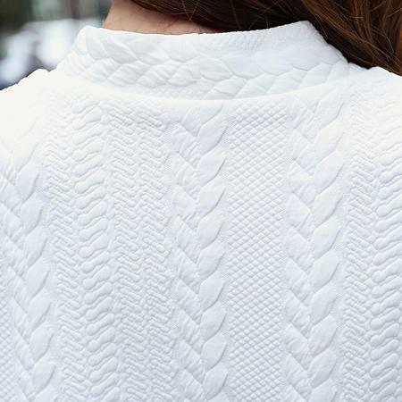 mssefn2015秋装新品 韩版时尚针织电脑提花长款女士 风衣外套 8975