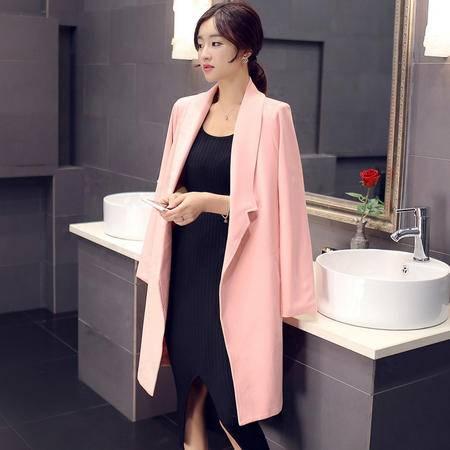 mssefn2015秋冬季新款韩版中长款风衣外套Y562