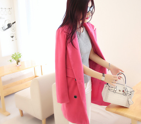 mssefn秋冬新品仿羊毛修身显瘦中长款毛呢大衣女时尚气质外套T1949