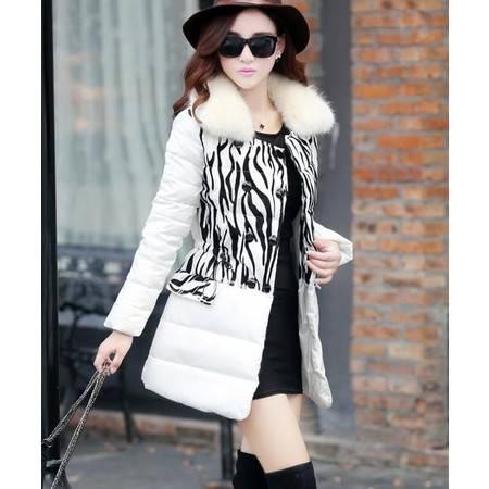 Mssefn 2015韩版女装冬季中长款双排扣女式棉衣外套