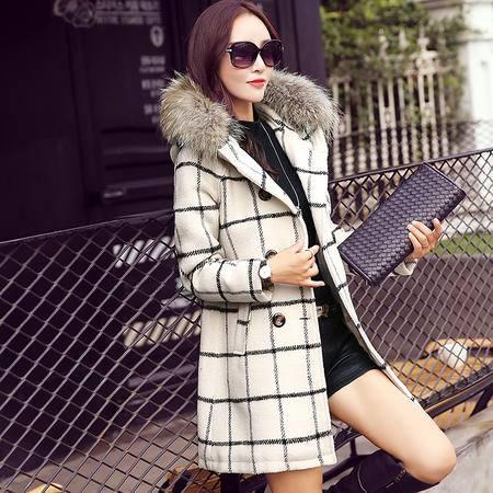 Mssefn2015秋季欧美新款毛呢外套女装韩版中长款呢子大衣S054