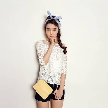 Mssefn2015韩版百搭时尚蕾丝衫XF6516